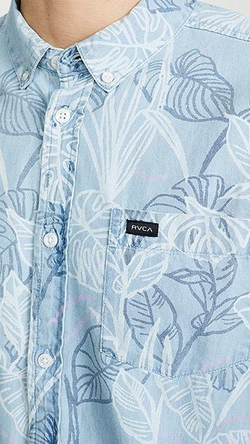 RVCA Short Sleeve Floral Printed Shirt