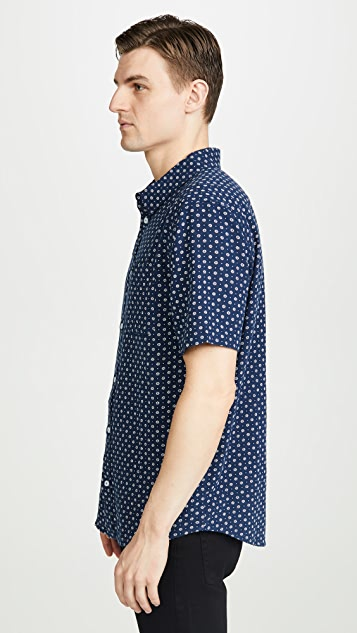 RVCA Short Sleeve Gauze Dot Shirt