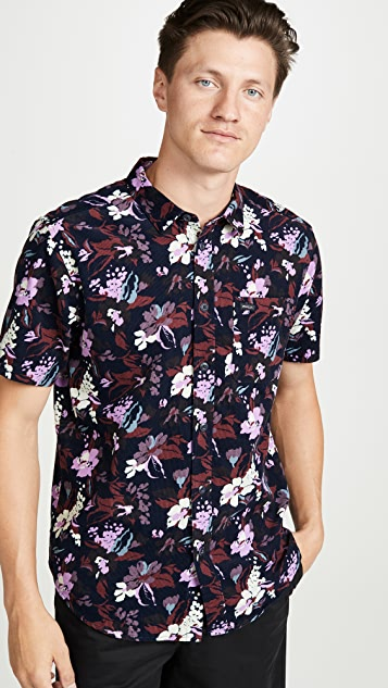 RVCA Short Sleeve Floral Printed Shirt