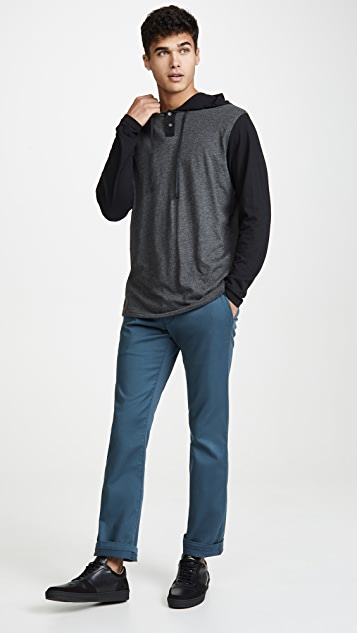 RVCA Pickup Two Button Pullover Hoodie