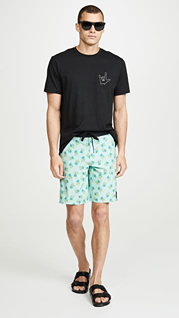 RVCA Pineapple Print Trunks