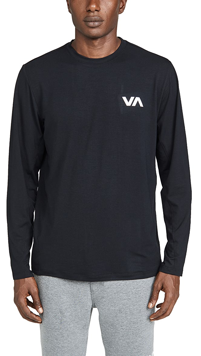 RVCA Mens Matter Long Sleeve Crew Neck T-Shirt