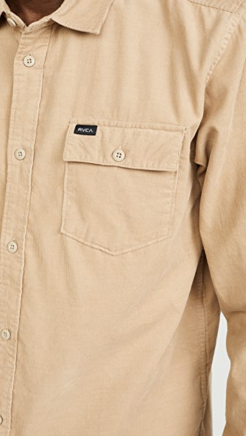 RVCA Freeman Corduroy Long Sleeve Shirt