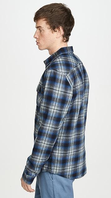 RVCA Hostile Flannel Plaid Long Sleeve Shirt