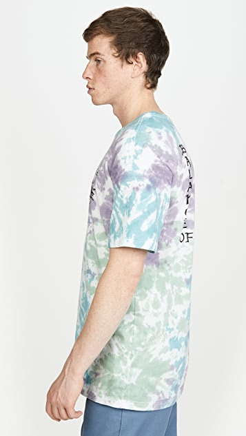 RVCA Tie Dye Morning Star Short Sleeve Shirt