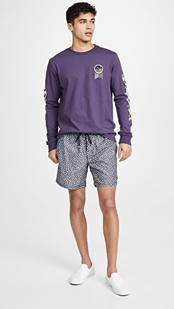 RVCA Club Elastic Swim Shorts