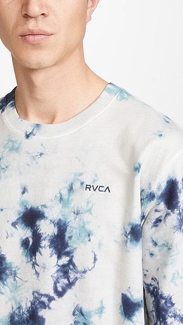 RVCA Switch Tie Dye Crew Neck Sweatshirt