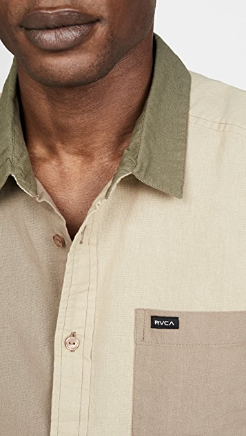 RVCA Short Sleeve Blocked Crushed Shirt