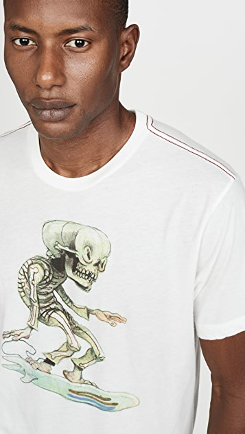 RVCA Skull Surfer T-Shirt