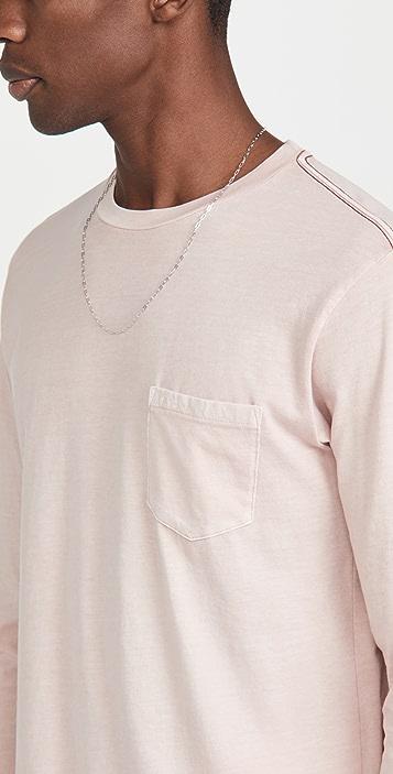 RVCA Long Sleeve PTC Pigment T-Shirt