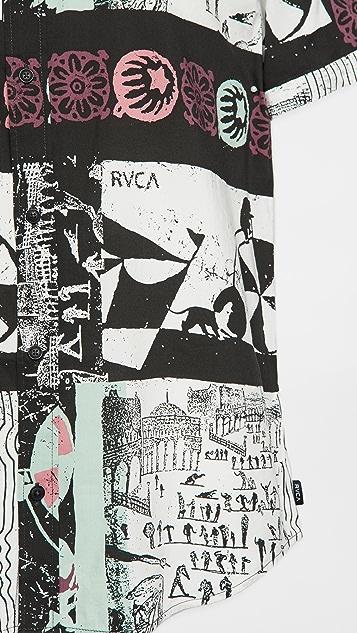 RVCA Short Sleeve Green Sugar Shirt