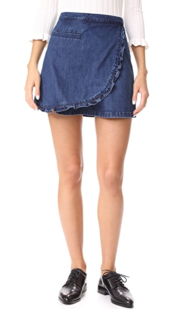Ryder Morgan Ruffle Denim Skirt