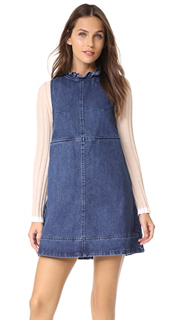 Ryder Morgan Ruffle Denim Dress