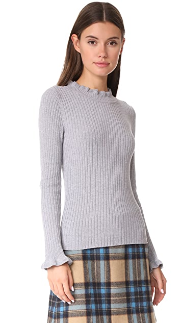 Ryder June Ribbed Mock Neck Top