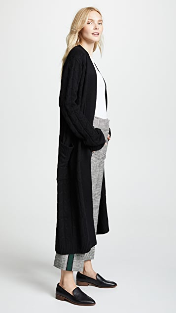 Sablyn Vanessa Long Cashmere Cable Coat