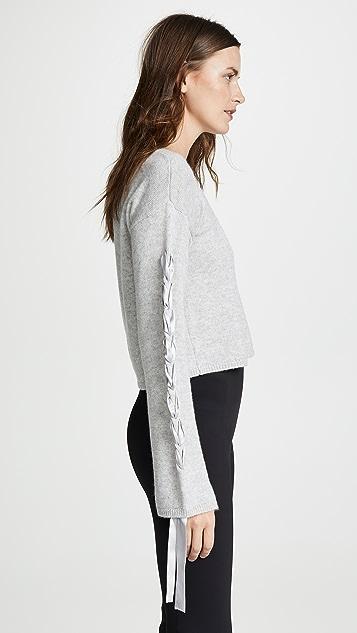 Sablyn Ruby Cropped Tie Sleeve Sweater