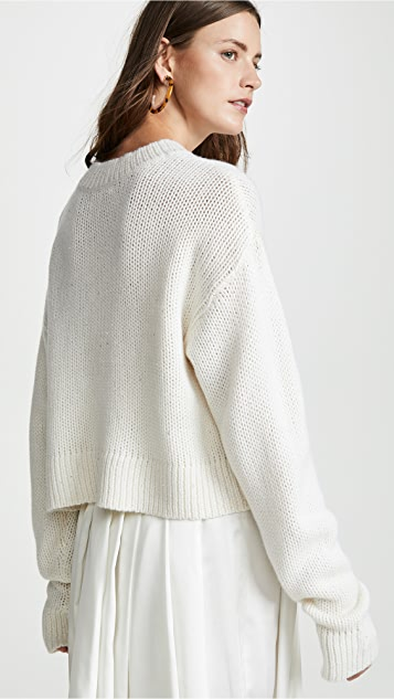 Sablyn Mercy Cropped Sequin Cashmere Sweater
