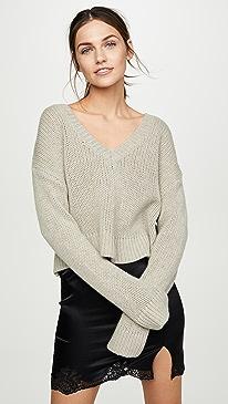 Cali V Neck Cropped Sweater