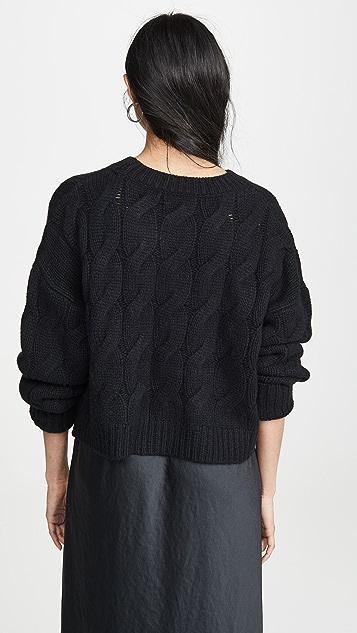 Sablyn Кашемировый свитер Mariam с вязкой косичкой
