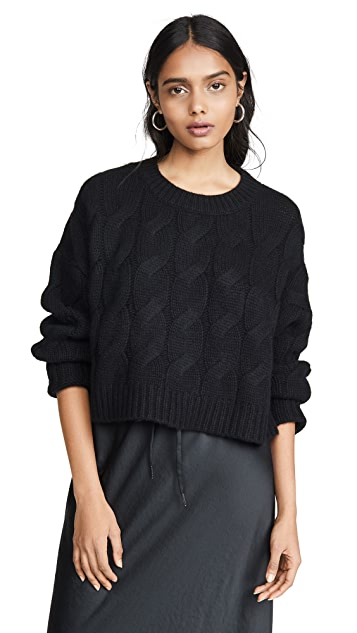 Sablyn Mariam Cable Knit Cashmere Sweater