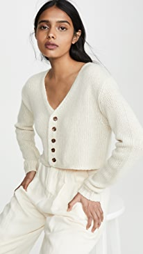 Bianco Cropped Cashmere Cardigan