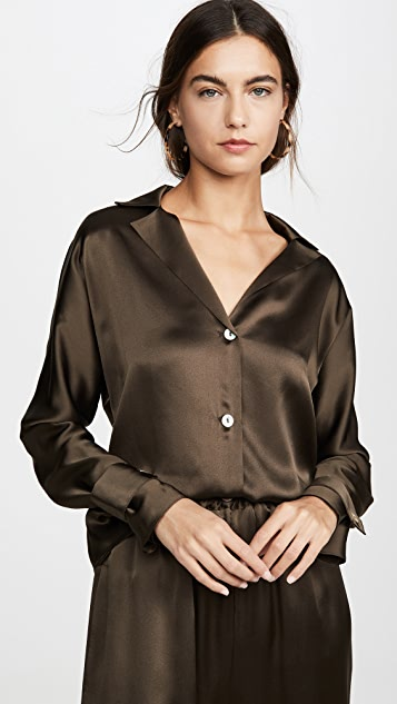 Sablyn Presley Silk Button Down