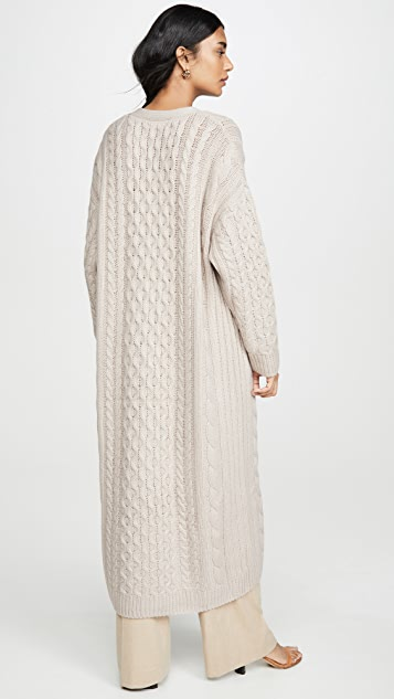 Sablyn Cable Cashmere Cardigan