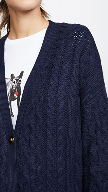 Sablyn Кашемировый кардиган с косичками