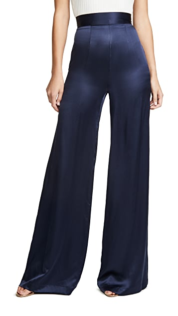 Sablyn Satin Wide Leg Pants