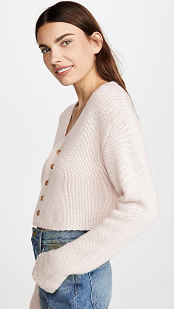Sablyn 白色开司米羊绒开襟衫