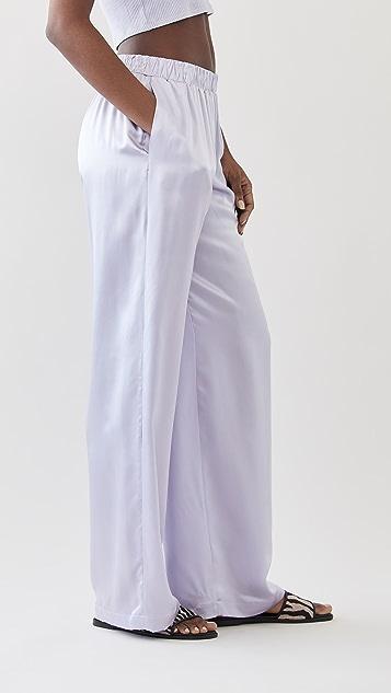 Sablyn 真丝低腰长裤