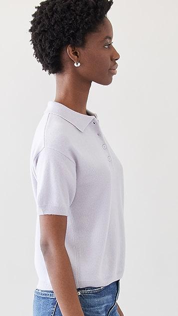 Sablyn Cashmere Collared Shirt