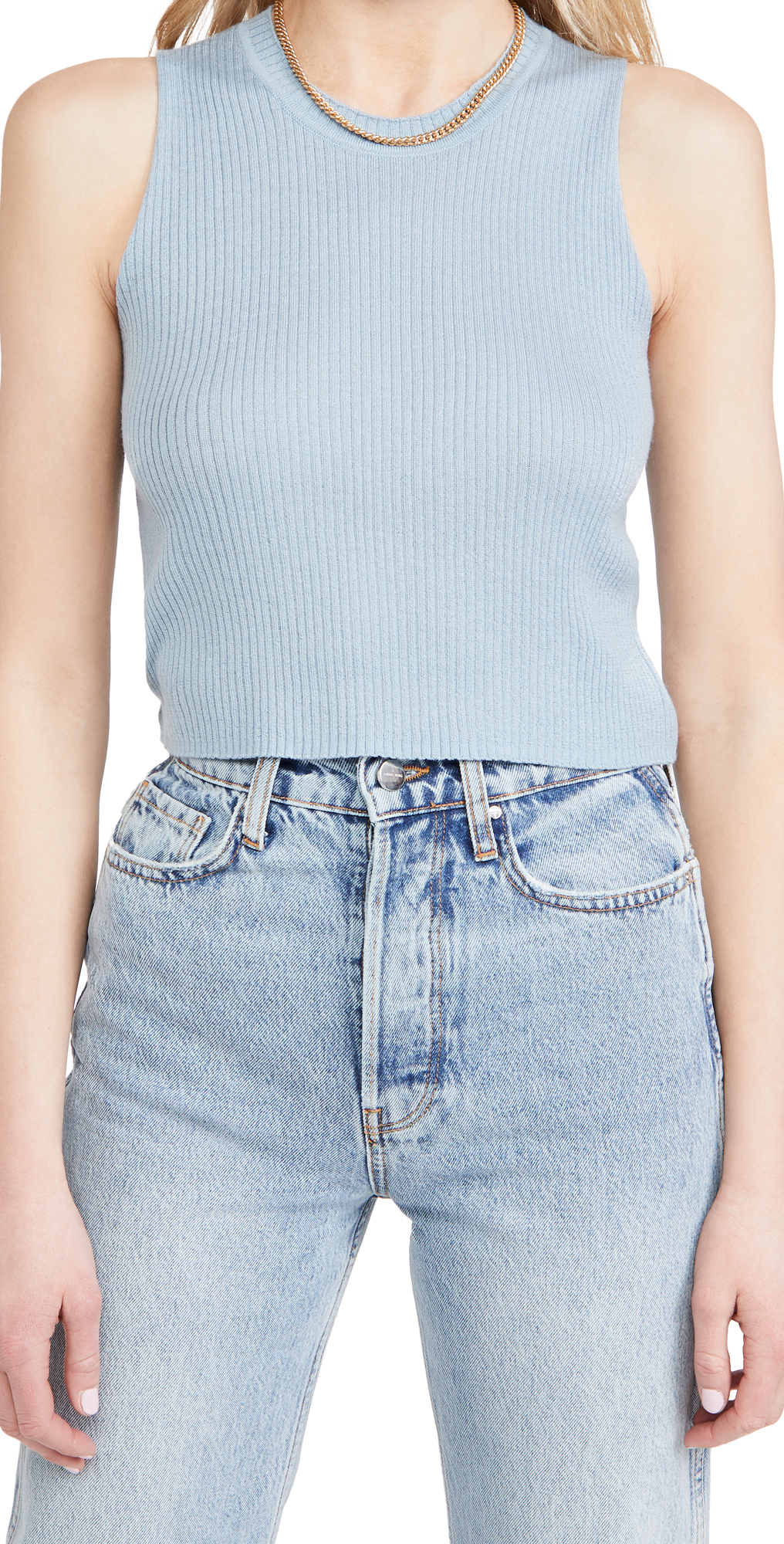 Sablyn Angie Cropped Cashmere Top