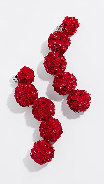 Sachin & Babi Fleur Bouquets Clip On Earrings