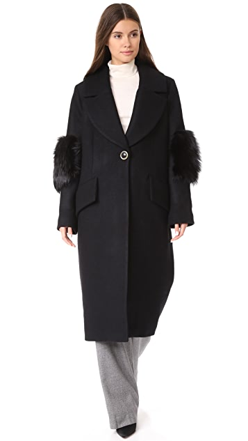 Saks Potts System Wool Coat
