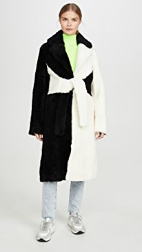 Shearling Colorblock Coat