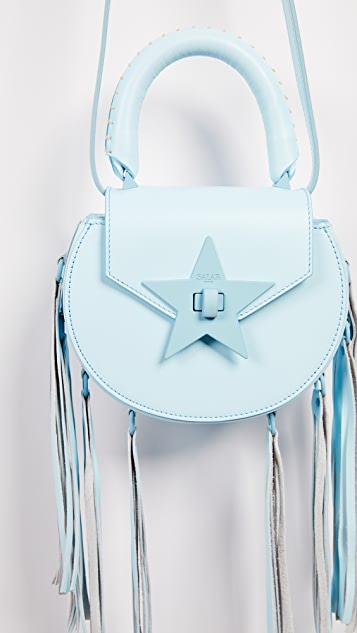 Salar Mimi Paint Cross Body Bag with Fringe