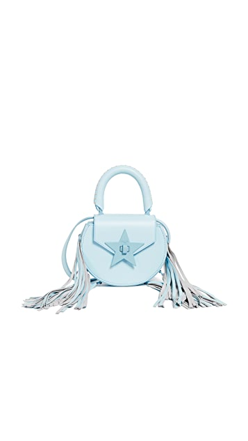 Salar Mimi Paint Cross Body Bag with Fringe