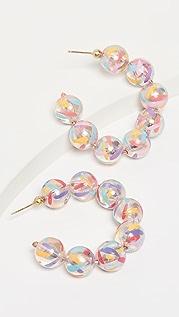 Susan Alexandra Bubble Hoop Earrings