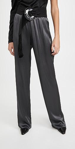 LAPOINTE - Doubleface Satin Elastic Wide Leg Pants