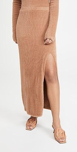 LAPOINTE - 开衩设计柔软合身半身长裙