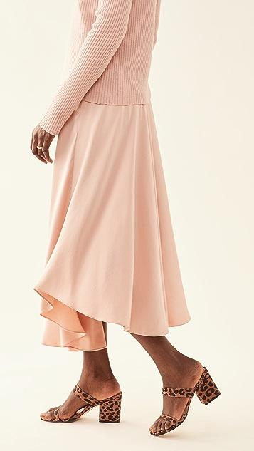 LAPOINTE Handkerchief Skirt