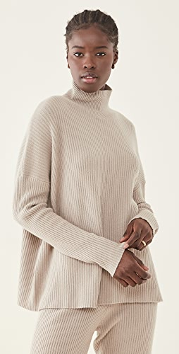 LAPOINTE - Boxy Ribbed Turtleneck Sweater