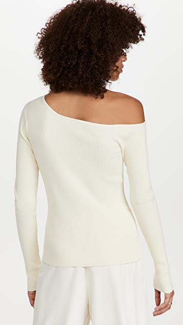 LAPOINTE One Shoulder Long Sleeve Top