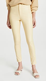 LAPOINTE Stretch Faux Leather Skinny Jeans