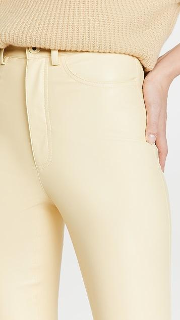 LAPOINTE 弹性仿皮紧身牛仔裤