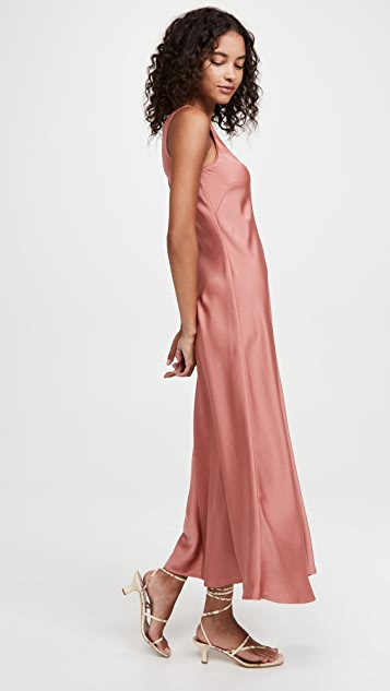 LAPOINTE Lightweight Textured Satin Dress