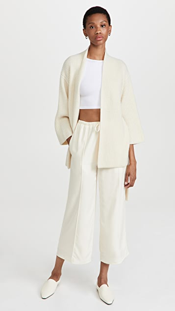 LAPOINTE Airy Silk Kimono Cardigan