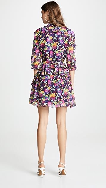 Saloni Платье с оборками Tilly