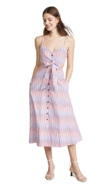 Saloni Платье Lea Cutout B